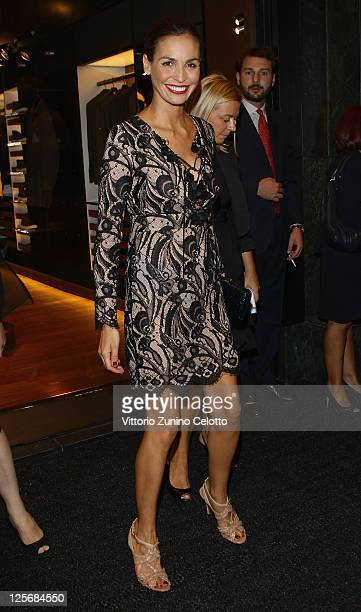 Ines Sastre attends the Pirelli Corso Venezia flagship store opening on September 20 2011 in Milan Italy