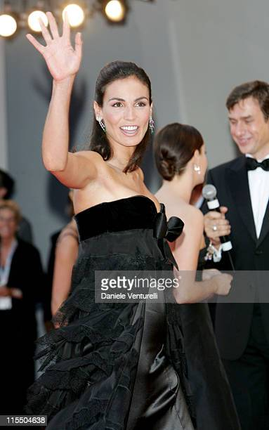 Ines Sastre during 2005 Venice Film Festival Closing Ceremony Red Carpet at Palazzo del Cinema in Venice Lido Italy