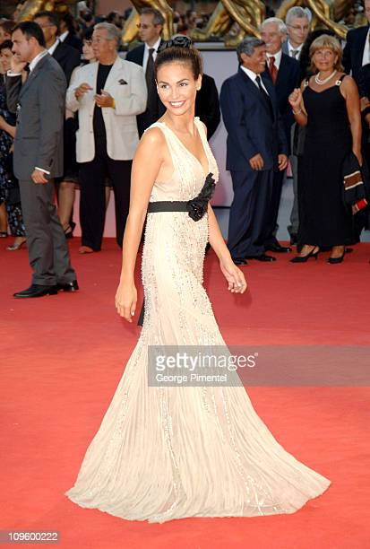 Ines Sastre during 2005 Venice Film Festival Opening Night Ceremony and 'Seven Swords' Premiere at Sala Grande in Venice Lido Italy