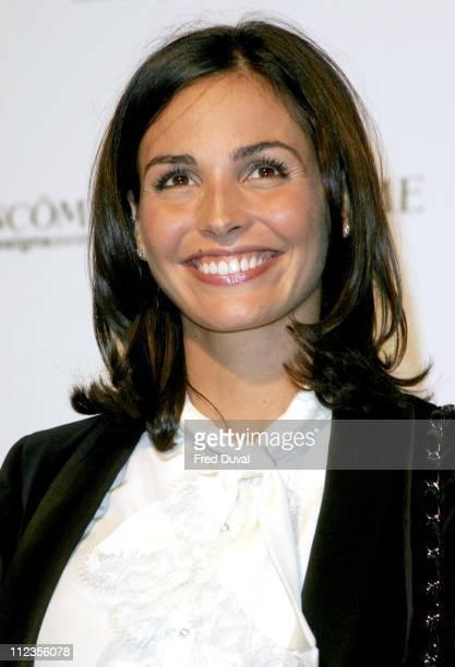 Ines Sastre during Lancome Colour Design Awards Arrivals at The ExSaatchi Gallery in London Great Britain