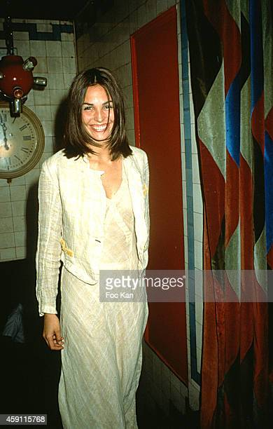 Ines Sastres attends a fashion week Party at Les Bains Douches in the 1990s in Paris France