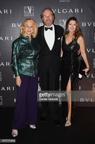 Ines Torlonia Alessandra Repini and Arturo Artom attend the Venetian Heritage And Bulgari Gala Dinner at Cipriani Hotel on May 9 2015 in Venice Italy