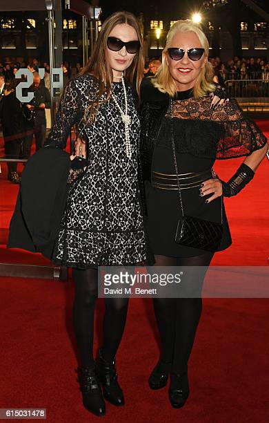 Inesa De La Roche and Amanda Eliasch attend the 'Free Fire' Closing Night Gala during the 60th BFI London Film Festival at Odeon Leicester Square on...