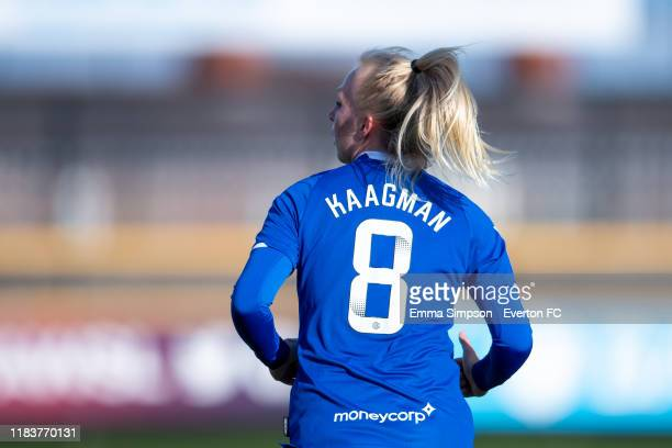 Inessa Kaagman of Everton during the Barclays FA Women's Super League match between Everton and Brighton Hove Albion at Haig Avenue on October 27...