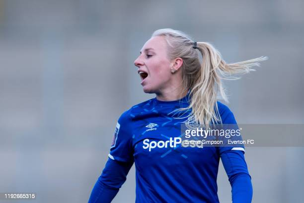 Inessa Kaagman of Everton during the Barclays FA Women's Super League match between Manchester United and Everton at Leigh Sports Village on December...