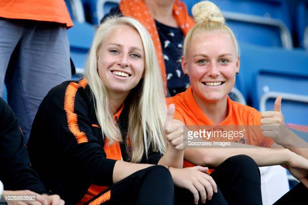 Inessa Kaagman of Holland Women, Danique Kerkdijk of Holland Women during the World Cup Qualifier Women match between Norway v Holland at the...
