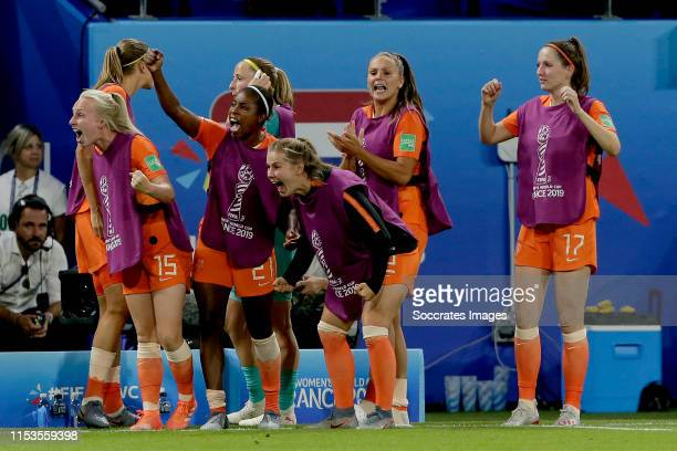Inessa Kaagman of Holland Women Lineth Beerensteyn of Holland Women Victoria Pelova of Holland Women Lieke Martens of Holland Women Ellen Jansen of...