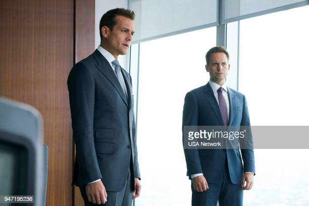 "Inevitable"" Episode 713 -- Pictured: Gabriel Macht as Harvey Specter, Patrick J. Adams as Mike Ross --"