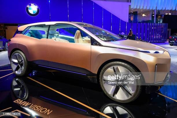 VISION iNEXT concept car on display at Brussels Expo on January 9 2020 in Brussels Belgium The BMW Vision iNEXT is fully electric fully connected and...