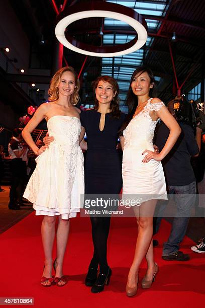 Inez Bjorg David Janina Elkin Linda Chang attend the 18th Annual German Comedy Awards at Coloneum on October 21 2014 in Cologne Germany The show will...