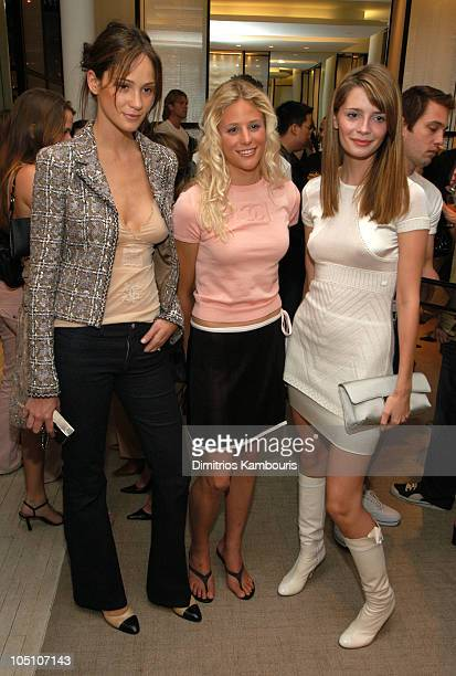 Inez Rivero Mora Holly Beck and Mischa Barton during Surf's Up at Chanel with a Party and Preview of Chanel 2003 Sport Collection at Chanel Boutique...
