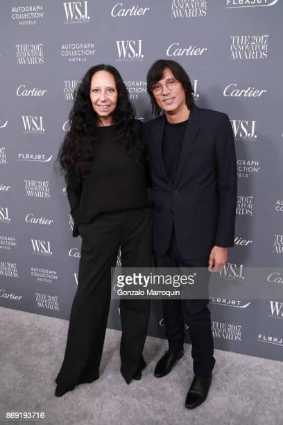 Inez van Lamsweerde and Vinoodh Matadin during the WSJ Magazine 2017 Innovator Awards at Museum of Modern Art on November 1 2017 in New York City
