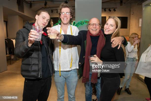 Infamous Billa Sebastian Keitel Christophe von Hohenberg and Lila Baumgardner attend De Lesseps x Stubbs Wootton at Fancy on October 25 2018 in New...