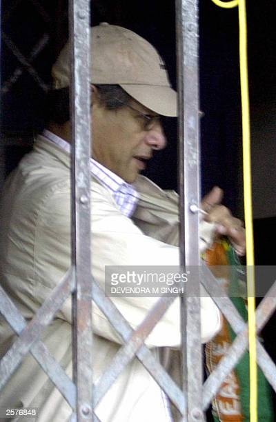 Infamous international criminal Charles Sobhraj leaves Hauman Dhoka jail in Kathmandu on his way to court, 10 October 2003. The 59-year-old French...