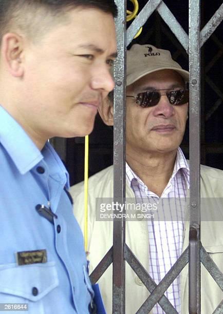 Infamous international criminal Charles Sobhraj waits inside Hanuman Dhoka jail to proceed to Kathmandu District Court, 20 October 2003. A Nepal...