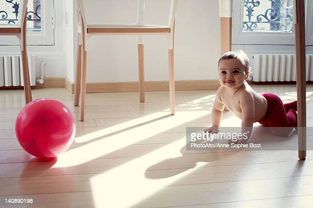 Infant and ballon