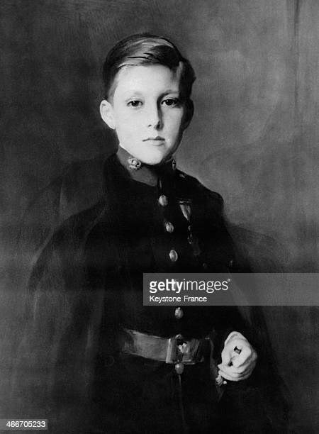 Infant Don Gonzalo son of King of Spain Alfonso XIII and of Queen Victoria Eugenie in 1928 in Spain