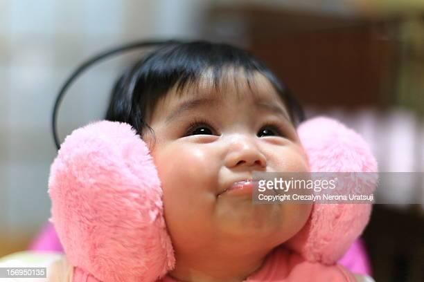 Infant having fun