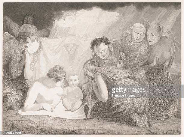 Infant Shakespeare Attended by Nature and the Passions, 1799. Artist Benjamin Smith.