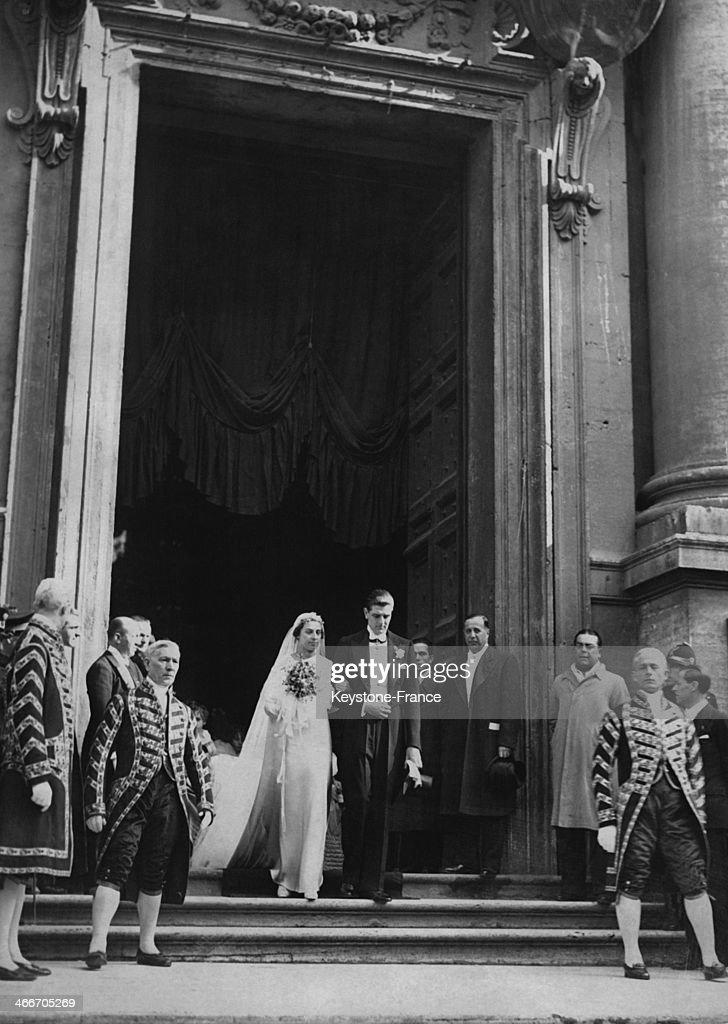 Wedding Of Infanta Beatriz And Of Prince Torlonia : News Photo