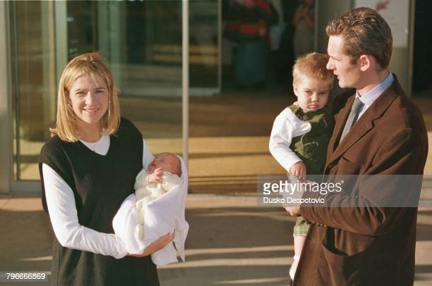 Infanta Christina with newborn Pablo Nicolas and her husband Inaki Urdangarin and Juan Valentin