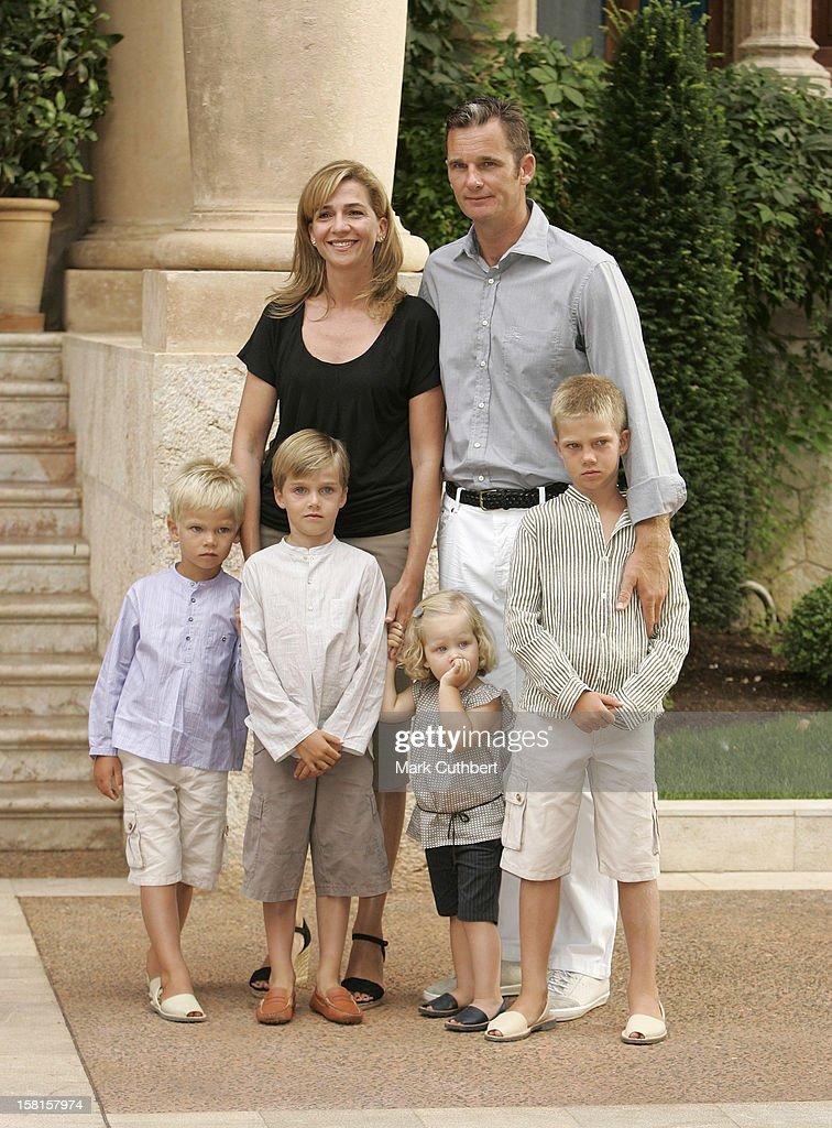 Infanta Cristina U0026 Inaki Urdangarin Of Spain With Their Children Miguel,  Pablo Nicolas, Irene