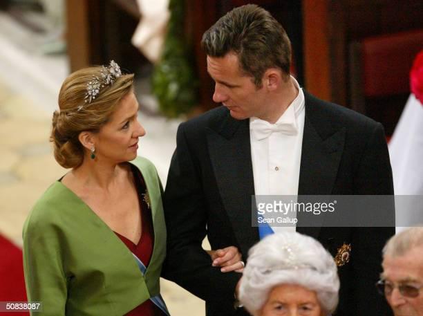Infanta Cristina of Spain and her husband Inaki Urdangarin attend the wedding between Danish Crown Prince Frederik and Miss Mary Elizabeth Donaldson...