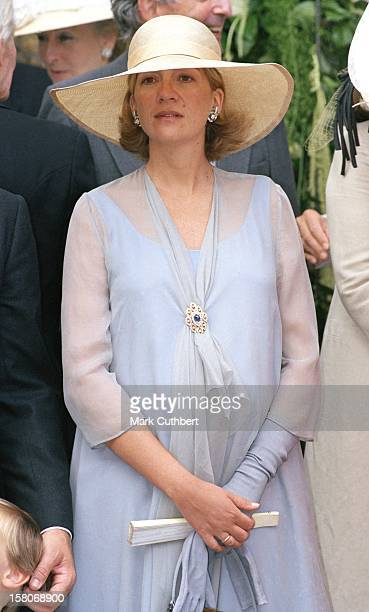Infanta Cristina Of Spain Attends The Wedding Of Princess Alexia Of Greece And Carlos Morales Quintana At The St. Sophia Cathedral In London. .