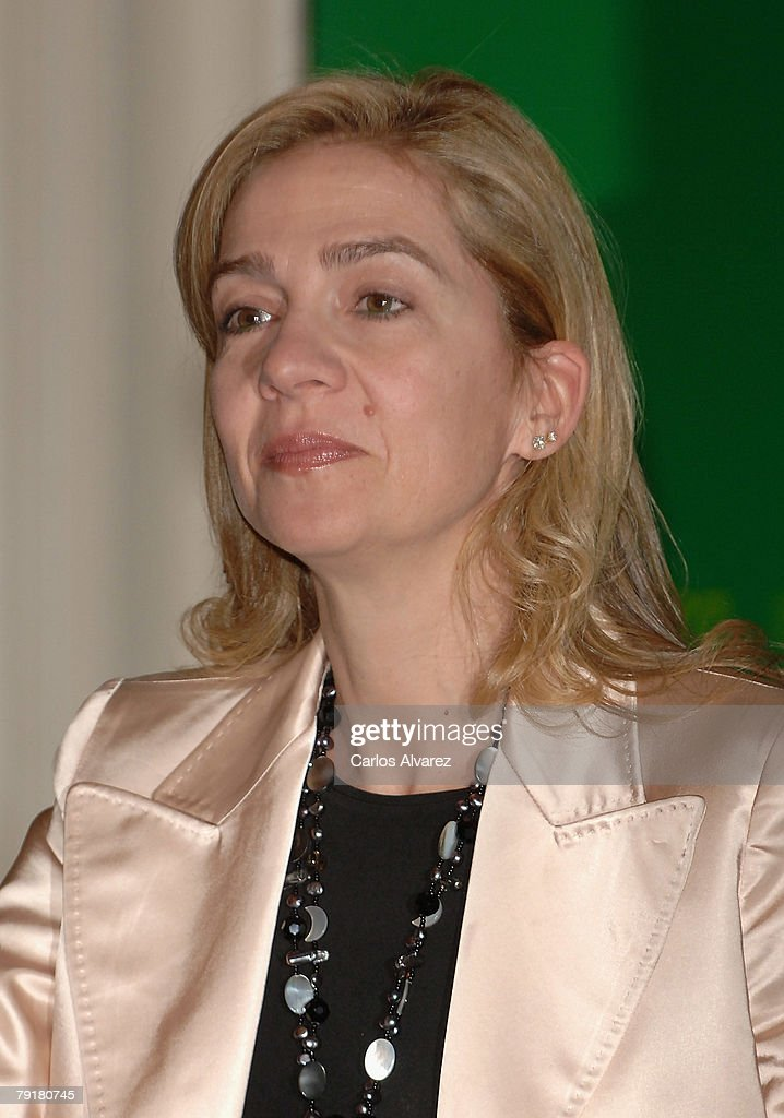Infanta Cristina of Spain presides Sociology and Political Science Award on January 23, 2008 at the Hotel Ritz in Madrid, Spain.