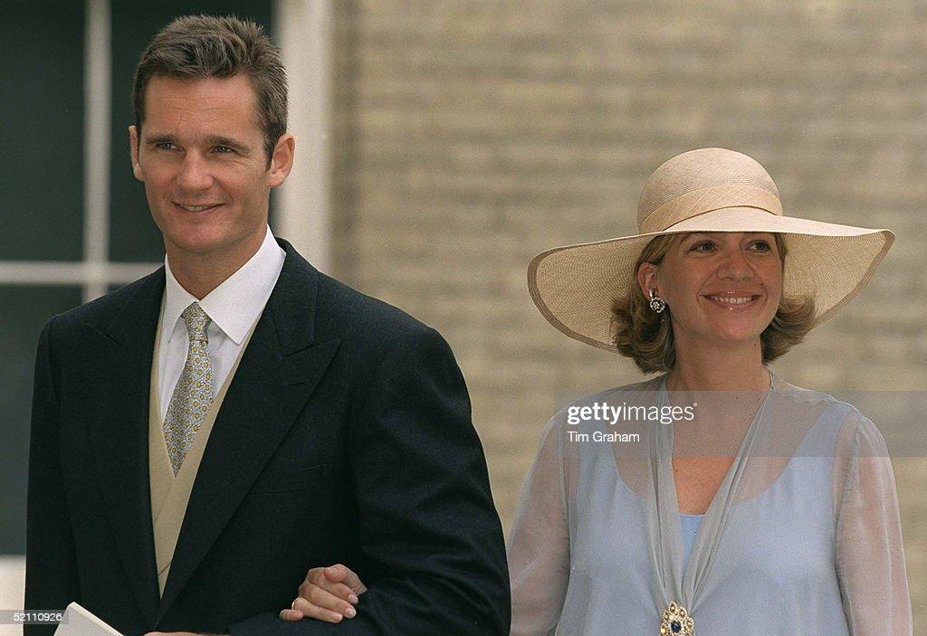 Infanta Princess Cristina Of Spain With Her Husband Inaki Urdangarin Attending The