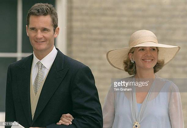 Infanta Cristina Of Spain With Her Husband, Inaki Urdangarin, Attending The Wedding Reception For Princess Alexia Of Greece At Kenwood House,...