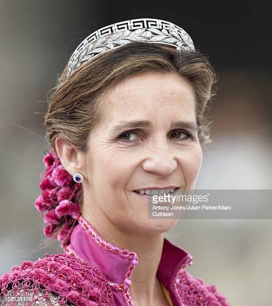 Infanta Elena At The Wedding Of Crown Princess Victoria Of Sweden And Daniel Westling At Stockholm Cathedral.