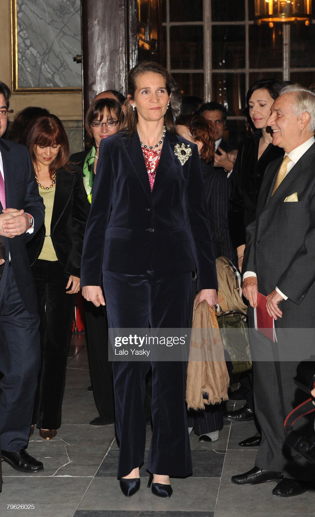 Infanta Elena of Spain attends Exhibition at the Royal Palace : News Photo
