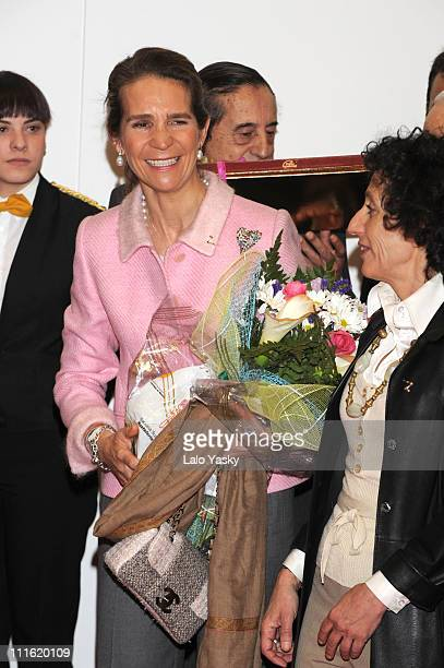Infanta Elena of Spain attends the opening of the XVI edition of the International Students and Study Centers Fair, at IFEMA on April 2, 2008 in...