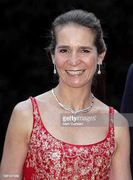 Infanta Elena Of Spain Attends The Silver Wedding Anniversary Celebrations Of Grand Duke Henri Grand Duchess MariaTheresa Of LuxembourgGala Dinner At...