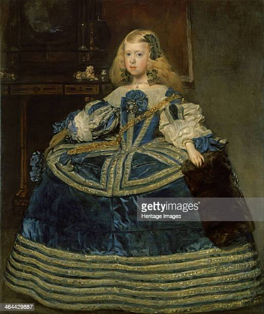 Infanta Margarita Teresa in a Blue Dress, 1659. Found in the collection of the Art History Museum, Vienne.
