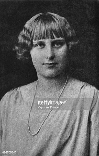 Infanta Maria Cristina daughter of King of Spain Alfonso XIII and of Victoria Eugenie circa 1920 in Madrid Spain