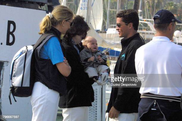 Infante Cristina Princess Alexia of Greece with Pablo Nicolas Urdangarin and Carlos Morales