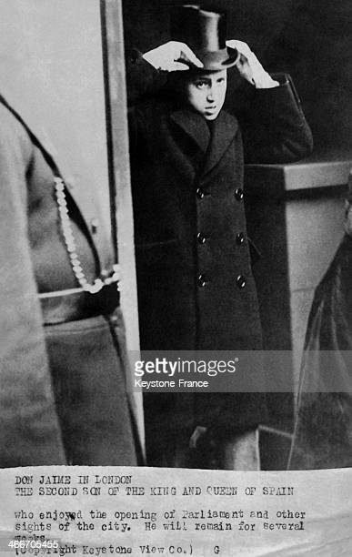 Infante Don Jaime son of King of Spain Alfonso XIII and of Victoria Eugenie is spending a few weeks in the British capital where he is sightseeing...