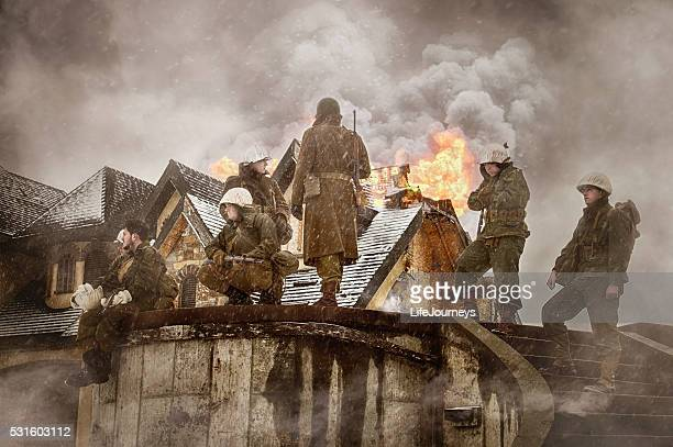 a segunda guerra mundial nos infantaria libertadores europa - infantaria - fotografias e filmes do acervo
