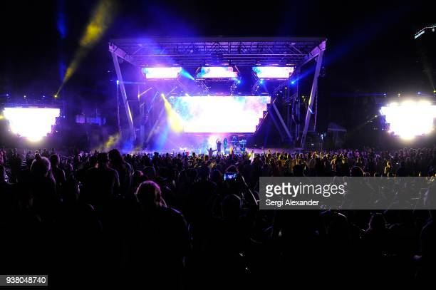 Infected Mashroom performs on stage at Ultra Music Festival at Bayfront Park on March 25 2018 in Miami Florida