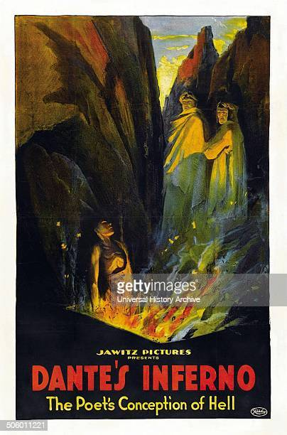 Inferno Italian for Hell Film Poster from 1921