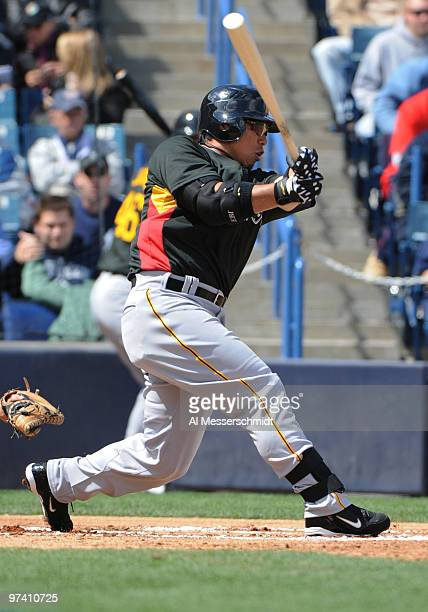 Infielder Akinori Iwamura of the Pittsburgh Pirates bats against the New York Yankees March 3, 2010 at the George M. Steinbrenner Field in Tampa,...