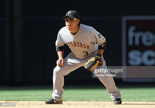 Infielder Akinori Iwamura of the Pittsburgh Pirates in action during the major league baseball game against the Arizona Diamondbacks at Chase Field...