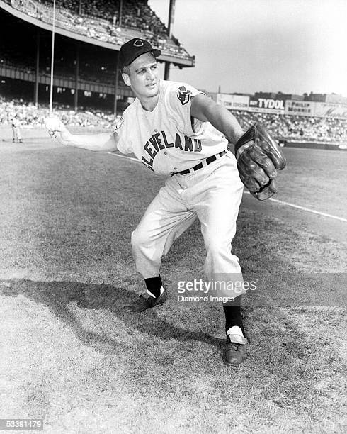 Infielder Al Rosen of the Cleveland Indians poses for a portrait prior to a game in 1951 against the New York Yankees at Yankee Stadium in New York...