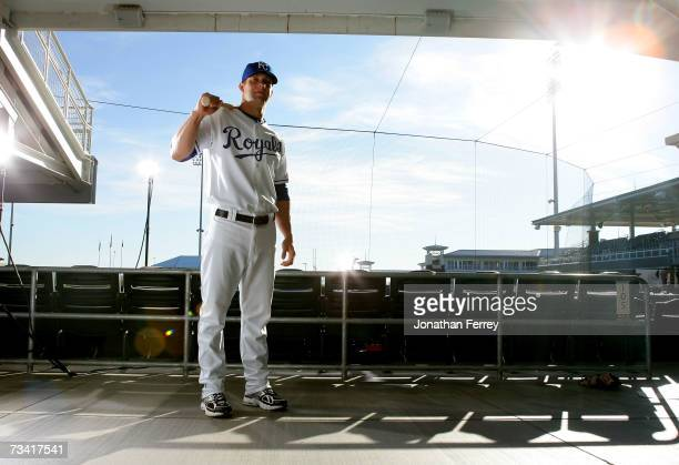 Infielder Alex Gordon of the Kansas City Royals poses for a portrait during Spring Training Photo Day on February 25 2007 at Surprise Stadium in...