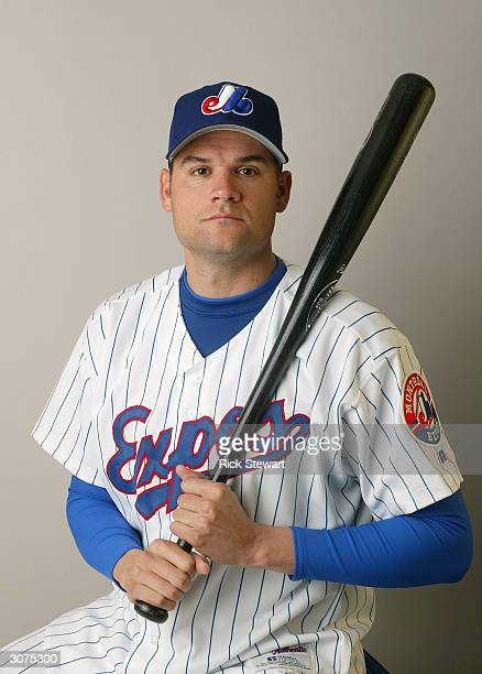 Infielder Andy Fox of the Montreal Expos poses for a photo during Media Day at Space Coast Stadium on February 28 2004 in Viera Florida