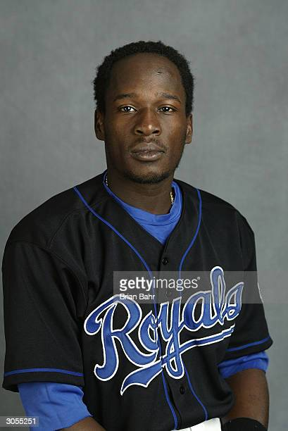 Infielder Angel Berroa of the Kansas City Royals poses for a portrait during photo day on February 27 2004 at Surprise Stadium in Surprise Arizona