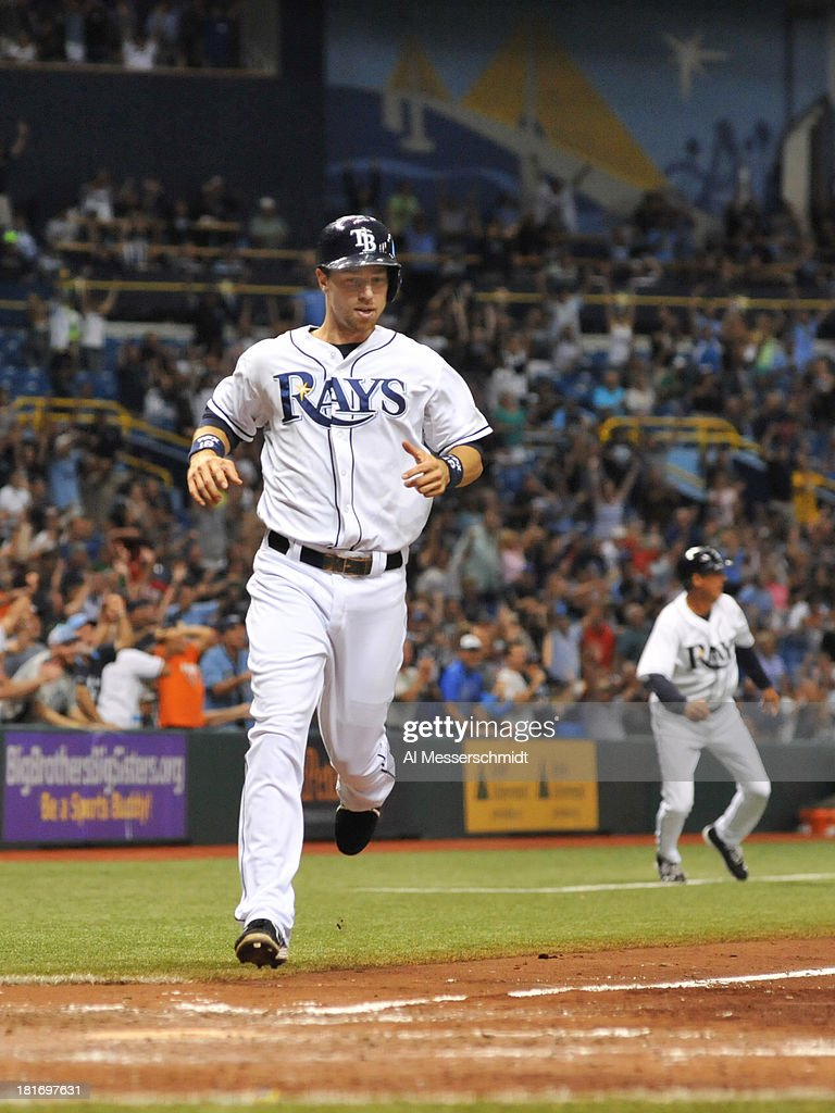 Infielder Ben Zobrist #18 of the Tampa Bay Rays scores against the Baltimore Orioles September 23, 2013 at Tropicana Field in St. Petersburg, Florida.