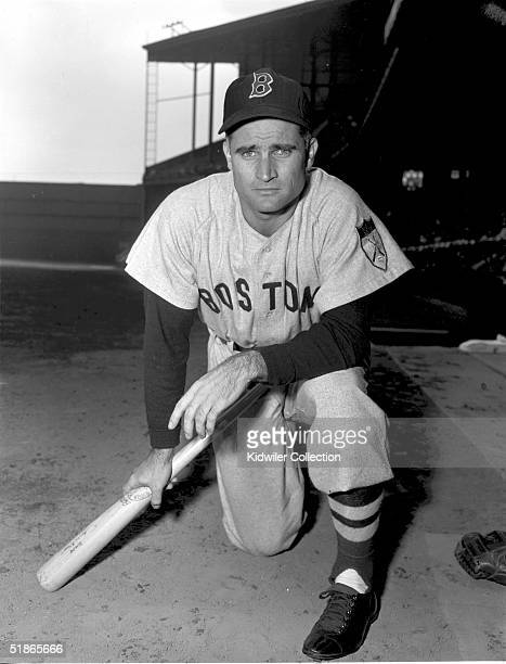 Infielder Bobby Doerr of the Boston Red Sox poses for a 1951 season portrait prior to a game against the Philadelphia As at Shibe Park in...